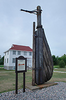 Rudder from the M.M. Drake. Great Lakes Shipwreck Museum. Upper Peninsula Michigan.