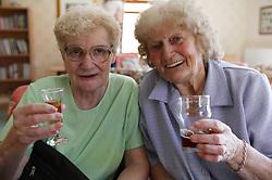 Portrait of a couple of elderly ladies,