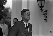 27/06/1963 - President John F. Kennedy leaving the U.S. Embassy in Dublin after a meeting with Taoiseach Seán Lemass.