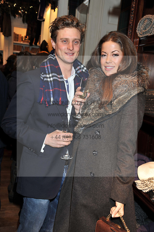 ANDREW SELBY BENNETT and AIMEE NAIRN at a party hosted by TLC to celebrate signing their 5000th member and Ralph Lauren to celebrate the opening of the first Ralph Lauren Rugby store in the UK at 43 King Street, Covent Garden, London on 30th November 2011.