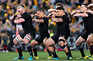 SYDNEY, NSW - AUGUST 18: New Zealand Haka at the Bledisloe Cup rugby test match between Australia and New Zealand at ANZ Stadium in Sydney on August 18, 2018. (Photo by Speed Media/Icon Sportswire)