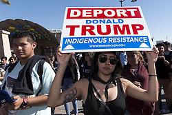 November 14, 2016 - Los Angeles, California, United States - Hundreds of Los Angeles high school students walkout of classes to protest President-elect Donald Trump. Los Angeles, California. November 14, 2016. (Credit Image: © Ronen Tivony/NurPhoto via ZUMA Press)