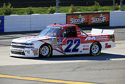 March 23, 2019 - Martinsville, VA, U.S. - MARTINSVILLE, VA - MARCH 23:   #22: Darrell Wallace, Jr, AM Racing, Chevrolet Silverado GO TEXAN / AM Technical Solutions during qualifying for the NASCAR Gander Outdoors Truck Series TruNorth Global 250 race on March 23, 2019 at the Martinsville Speedway in Martinsville, VA.  (Photo by David J. Griffin/Icon Sportswire) (Credit Image: © David J. Griffin/Icon SMI via ZUMA Press)
