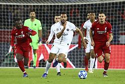 November 28, 2018 - Paris, France - Naby Keita (Liverpool) / Xherdan Shaqiri (Liverpool) vs Eric Maxim Choupo Motigs  (Credit Image: © Panoramic via ZUMA Press)