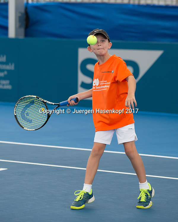 Kinder Tennis<br /> <br /> Tennis - Brisbane International  2017 - ITF -  Pat Rafter Arena - Brisbane - QLD - Australia  - 4 January 2017. <br /> &copy; Juergen Hasenkopf