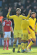 Luke Murphy (8) celebrates  after scoring to go 1 all  during the Sky Bet Championship match between Rotherham United and Leeds United at the New York Stadium, Rotherham, England on 2 April 2016. Photo by Ian Lyall.