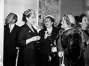 Margaret Burke Sheridan (second from right), La Scala Milan, at Inauguration of Italian Cultural Institute.<br /> <br /> 20/04/1954.<br /> <br /> Margaret Burke-Sheridan (15/10/1889-16/04/1958) was an Irish opera singer. Born in Castlebar, Co Mayo, Ireland, she was known as Maggie from Mayo and was regarded as Ireland's second Prima Donna (after Catherine Hayes (1818-1861)). She was a soprano and had performed at La Scala and Covent Garden for 12 years, where she enthralled the opera-goers. When she played the role of Madame Butterfly, Puccini was spellbound by her performance. <br /> <br /> Br&iacute;d Mahon stated on page 123 in her book While Green Grass Grows (1998) that, it was rumoured that an Italian, whose overtures was rejected by her and she had blown his brains out in a box in La Scala, Milan, while she was on stage. After the tragedy she had never sang in public again. She died in relative obscurity in 1958 and her remains was buried in Glasnevin cemetery, Dublin.