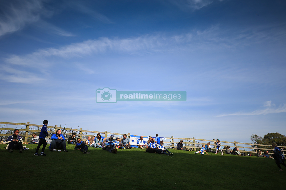 24 September 2017 -  Premier League - Brighton v Newcastle United - Brighton fans soak up the sun - Photo: Marc Atkins/Offside