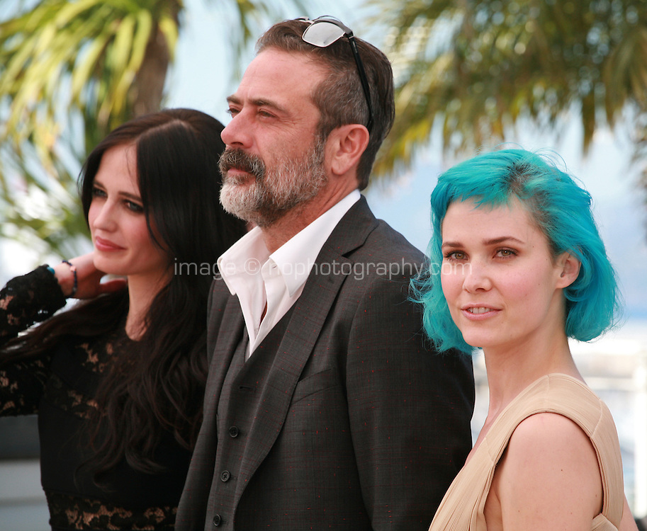 Eva Green, Jeffrey Dean Morgan, Nanna Oland Fabricius at the photo call for the film The Salvation at the 67th Cannes Film Festival, Saturday 17th May 2014, Cannes, France.