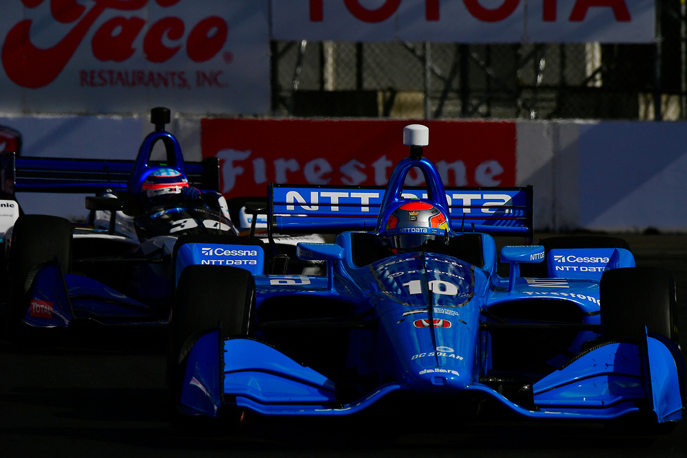 Ed Jones, Chip Ganassi Racing Honda<br /> Sunday 15 April 2018<br /> Toyota Grand Prix of Long Beach<br /> Verizon IndyCar Series<br /> Streets of Long Beach, California USA<br /> World Copyright: Scott R LePage<br /> LAT Images