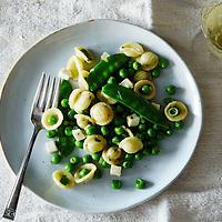 Pea and Orecchiette Salad with Mozzarella and Mint