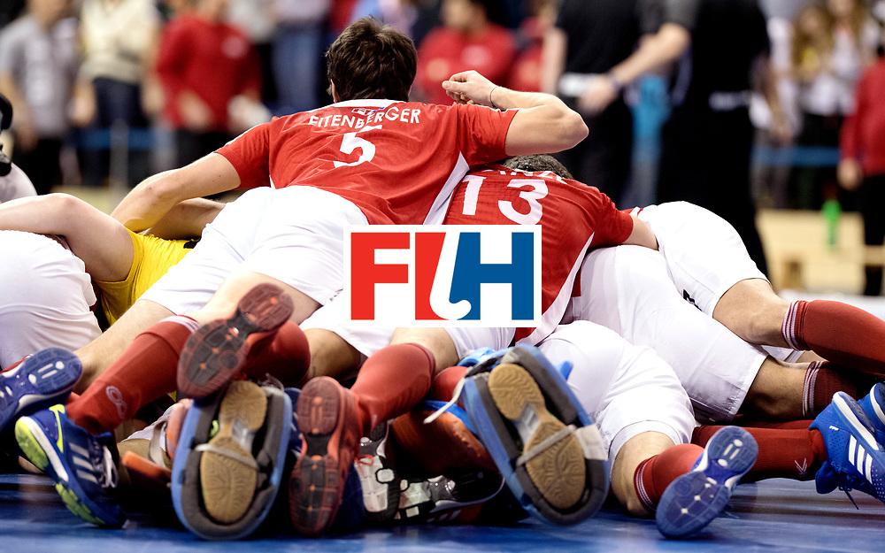 BERLIN - Indoor Hockey World Cup<br /> Final: Germany - Austria<br /> Austria wins the world championship.<br /> foto: Austria win.<br /> WORLDSPORTPICS COPYRIGHT FRANK UIJLENBROEK