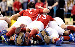 BERLIN - Indoor Hockey World Cup<br /> Final: Germany - Austria<br /> Austria wins the world championship.<br /> foto: Austria win.<br /> WORLDSPORTPICS COPYRIGHT FRANK UIJLENBROEK