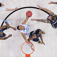 27 MAR 2016: Brice Johnson #11 of the University of North Carolina during a game against Notre Dame University during the 2016 NCAA Men's Basketball Tournament held at the Wells Fargo Center in Philadelphia, PA.  Ben Solomon/NCAA Photos