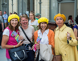 fans at a tribute event in memory of Victoria Wood. Held at Manchester Victoria Station, the station was renamed Victoria Wood Station for the duration of the event.<br /> <br /> (c) John Baguley | Edinburgh Elite media