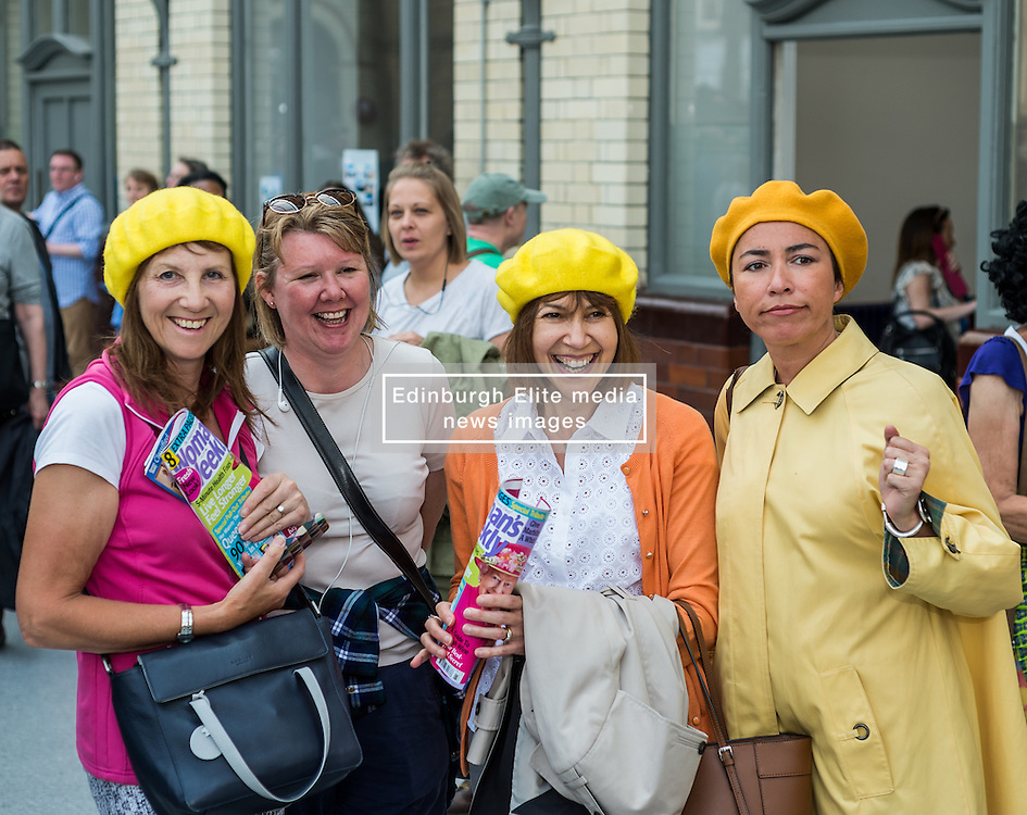 fans at a tribute event in memory of Victoria Wood. Held at Manchester Victoria Station, the station was renamed Victoria Wood Station for the duration of the event.<br /> <br /> (c) John Baguley   Edinburgh Elite media