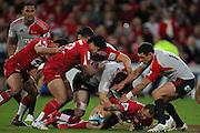 Quade Cooper during the Super Rugby Final at Suncorp Stadium in Brisbane,  July 9, 2011.  Photo: Patrick Hamilton/Photosport
