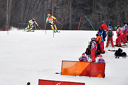 RISTAU Noemi Ewa B2 GER Guide: GERKAU Lucien competing in the ParaSkiAlpin, Para Alpine Skiing, Slalom at the PyeongChang2018 Winter Paralympic Games, South Korea.