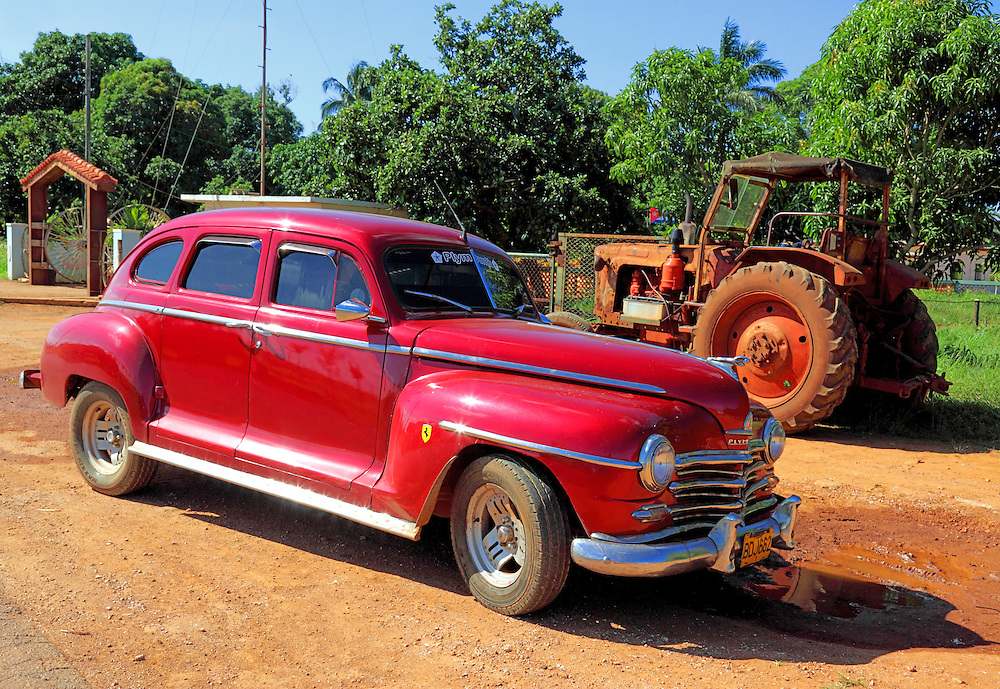 Car in Quivican, Mayabeque Province, Cuba.
