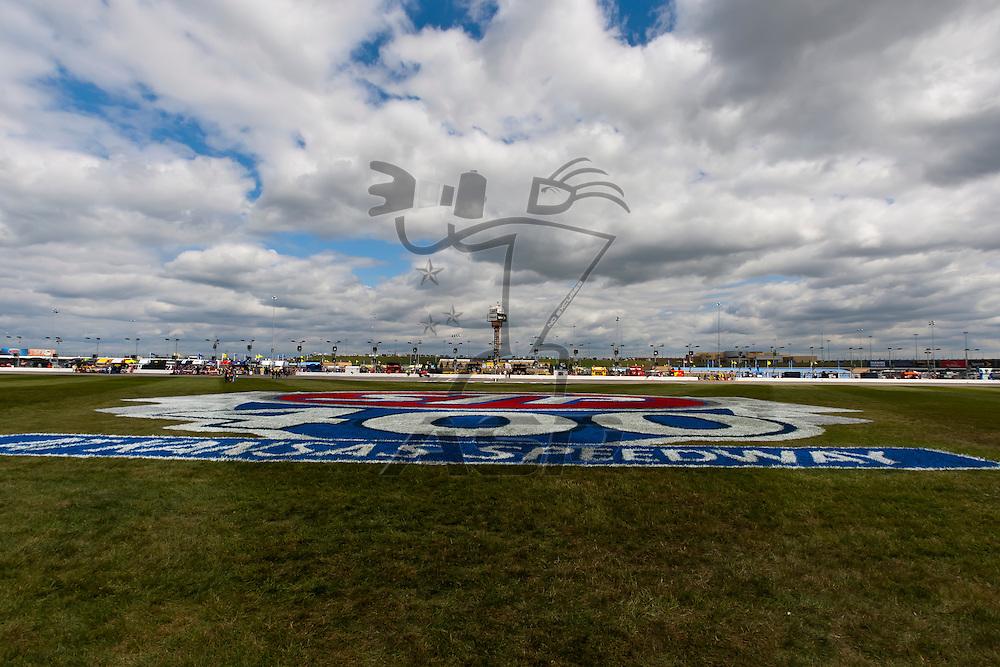 KANSAS CITY, KS - APR 22, 2012:  Kansas Speedway plays host to the STP 400 NASCAR Sprint Cup race in Kansas City, KS.