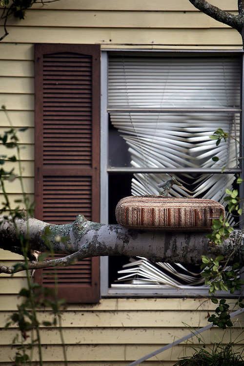 Storm surge damage after Hurricane Ike on Birch Street in Bridge City, Texas, Thursday September 18, 2008.