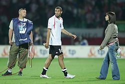 WARSAW, POLAND - WEDNESDAY, SEPTEMBER 7th, 2005: Wales' Craig Davies walks off dejected as his side lose 1-0 to Poland during the World Cup Group Six Qualifying match at the Legia Stadium. (Pic by David Rawcliffe/Propaganda)