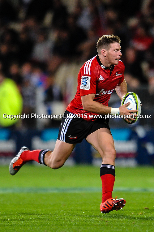 Colin Slade of the Crusaders during the Super Rugby match, Crusaders v Cheetahs, 21 March 2015 at AMI Stadium, Christchurch. Copyright Photo: John Davidson / www.Photosport.co.nz