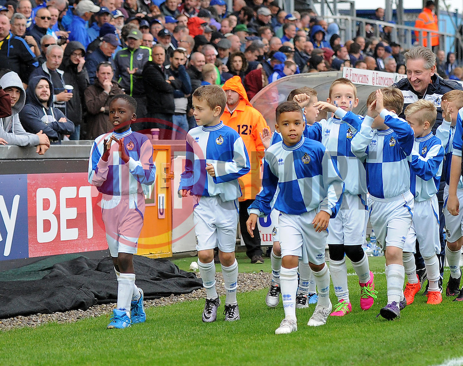 Bristol Rovers Academy players are presented to supporters at the Memorial Stadium - Mandatory by-line: Paul Knight/JMP - 15/10/2016 - FOOTBALL - Memorial Stadium - Bristol, England - Bristol Rovers v Gillingham - Sky Bet League One