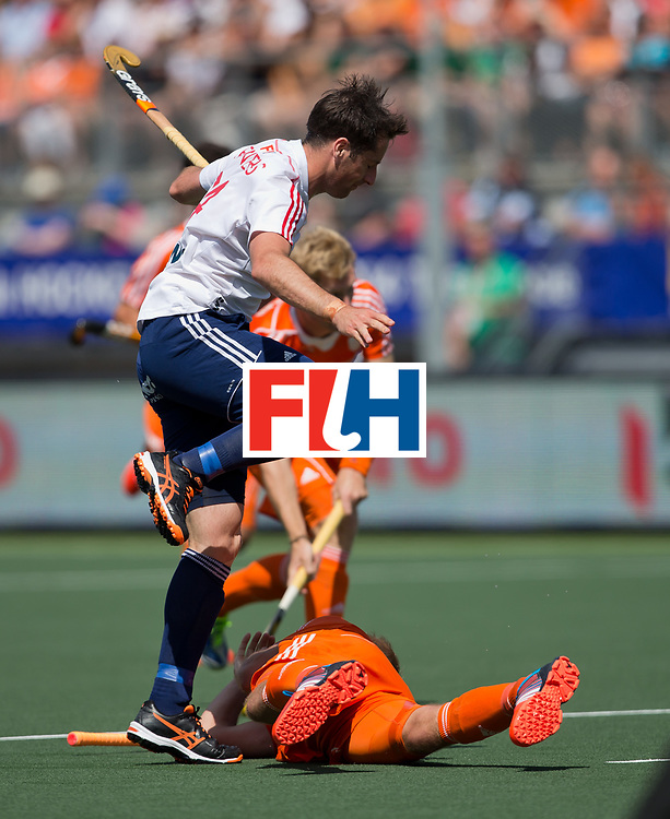 Hockey World Cup 2014<br /> The Hague, Netherlands <br /> Day 12 Mens Semi Final <br /> Netherlands v England<br /> Iain Lewers<br /> <br /> Photo: Grant Treeby<br /> www.treebyimages.com.au