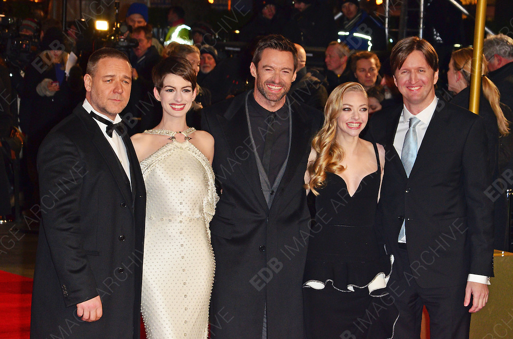 05.DECEMBER.2012. LONDON<br /> <br /> CELEBRITIES ATTEND THE LES MISERABLES UK FILM PREMIERE HELD AT THE ODEON LEICESTER SQUARE, LONDON.<br /> <br /> BYLINE: EDBIMAGEARCHIVE.CO.UK/JOE ALVAREZ<br /> <br /> *THIS IMAGE IS STRICTLY FOR UK NEWSPAPERS AND MAGAZINES ONLY*<br /> *FOR WORLD WIDE SALES AND WEB USE PLEASE CONTACT EDBIMAGEARCHIVE - 0208 954 5968*