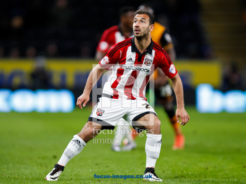 Akaki Gogia of Brentford during the Sky Bet Championship match between Hull City and Brentford at KC Stadium, Hull<br /> Picture by Mark D Fuller/Focus Images Ltd +44 7774 216216<br /> 26/04/2016