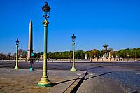 France, Paris (75), place de la Concorde durant le confinement du Covid 19 // France, Paris, Concorde square during the containment of Covid 19