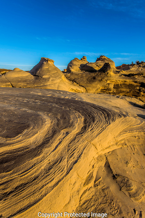 Sunset Lights Ripples in the Sand at Paria Rocks on the Colorado Plateau in Arizona.