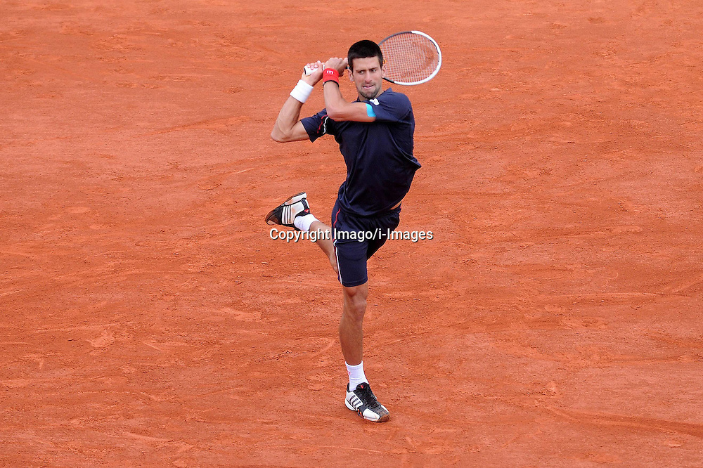 Novak Djokovicduring the men's singles at the French Open tennis tournament in Paris, France. Monday June 11, 2012. Photo imago/i-Images