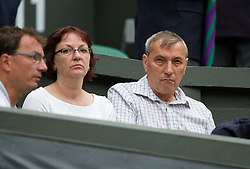 LONDON, ENGLAND - Saturday, July 5, 2014: Petra Kvitova's parents Pavela and Jiri before the Ladies' Singles Final match on day twelve of the Wimbledon Lawn Tennis Championships at the All England Lawn Tennis and Croquet Club. (Pic by David Rawcliffe/Propaganda)