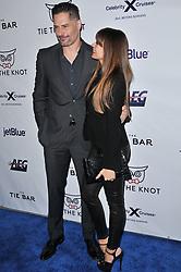 (L-R) Joe Manganiello and Sofia Vergara arrives at Jessie Tyler Ferguson's 'Tie The Knot' 5 Year Anniversary celebration held at NeueHouse Hollywood in Los Angeles, CA on Thursday, October 12, 2017. (Photo By Sthanlee B. Mirador/Sipa USA)