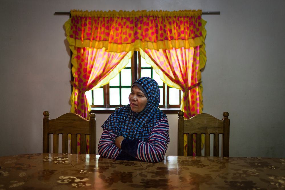 Sarangani Province, Mindanao, Philippines - JUNE 21: A portrait of the wife of Commander 14, who is a top Regional Commander  of the Moro Islamic Liberation Front (MILF) in the Sarangani Province.