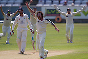 Ryan J Sidebottom appeals for LBW against John Hastings (Durham County Cricket Club) during the LV County Championship Div 1 match between Durham County Cricket Club and Yorkshire County Cricket Club at the Emirates Durham ICG Ground, Chester-le-Street, United Kingdom on 1 July 2015. Photo by George Ledger.