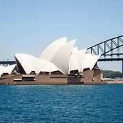 Panoramic picture. Sydney Opera House in Sydney Bay Sydney Opera House.