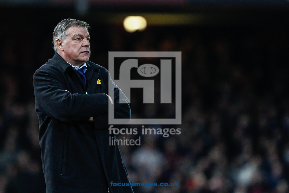 Sam Allardyce, Manager of West Ham United, looks on during the Barclays Premier League match at the Boleyn Ground, London<br /> Picture by David Horn/Focus Images Ltd +44 7545 970036<br /> 04/03/2015