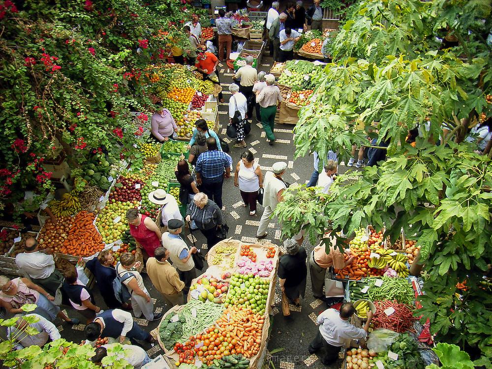 Markthalle Funchal, Madeira, Portugal - texturierte Fotografie