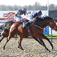 Paddy's Saltantes and Andrea Atzeni winning the 11.35 race