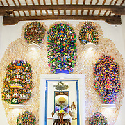 Part of the Spanish colonial museum at Xcarat Maya theme park south of Cancun and Playa del Carmen on Mexico's Yucatana Peninsula.