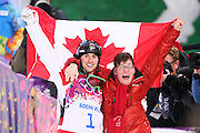 """Alexandre Bilodeau (CAN),<br /> FEBRUARY 10, 2014 - Freestyle Skiing : <br /> Men's Moguls Final<br /> at """"ROSA KHUTOR"""" Extreme Park <br /> during the Sochi 2014 Olympic Winter Games in Sochi, Russia. <br /> (Photo by Yohei Osada/AFLO SPORT) [1156]"""