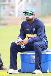 July 6, 2018 - Sri Lanka - Sri Lanka cricketer Kusal Janith Perera is drinking water at practice session in the R.Premadasa Stadium in Colombo on July 6, 2018. Sri lanka and South Africa will play two Tests, five 50-over One-Day Internationals (ODIs), and one T20 in Sri Lanka between July 12 and August 14. The first Test between South African and Sri Lanka will be played on July 12 at the Galle International Cricket Stadium in Galle. (Credit Image: © Lahiru Harshana/Pacific Press via ZUMA Wire)