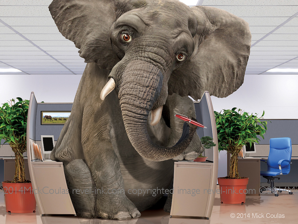 Character design for Elephant Auto Insurance. Photoshop for Barber Martin Agency