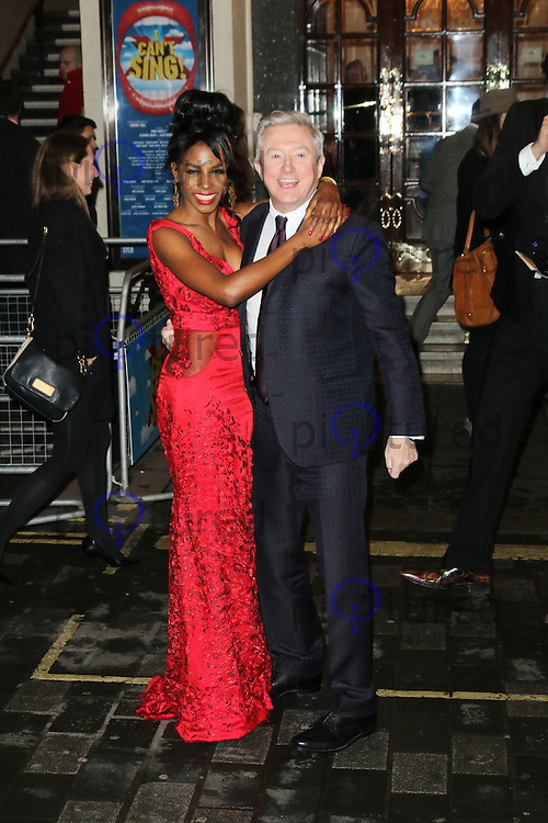 Sinitta; Louis Walsh, I Can't Sing! The X Factor Musical - press night, London Palladium, London UK, 26 March 2014, Photo by Richard Goldschmidt