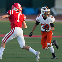 Half Moon Bay vs Saratoga in a preseason football game at Saratoga High School, Saratoga CA on 8/25/17. (William Gerth/Max Preps)