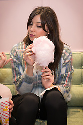 © Licensed to London News Pictures . 10/10/2013 .Manchester , UK . Model Daisy Lowe eating candyfloss inside Selfridges . Vogue Fashions Night Out in Selfridges , Exchange Square , Manchester City Centre . Photo credit : Joel Goodman/LNP