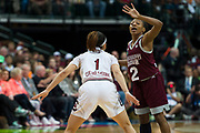 Mississippi State Lady Bulldogs guard Morgan William #2 brings the ball up court against the South Carolina Gamecocks during the NCAA Women's Championship game at the American Airlines Center in Dallas, Texas on April 2, 2017.  (Cooper Neill for The Players Tribune)